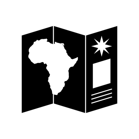 Safari brochure in Africa vector illustration design