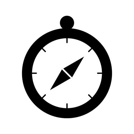 Kompass Führer isoliert Symbol Vektor-Illustration, Design, Standard-Bild - 84599426