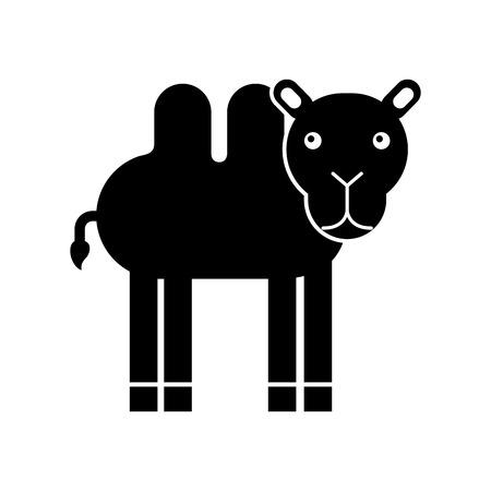 Africano camello aislado icono ilustración vectorial Foto de archivo - 84599432