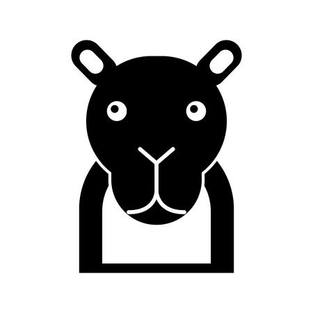 Africano camello aislado icono ilustración vectorial Foto de archivo - 84599440