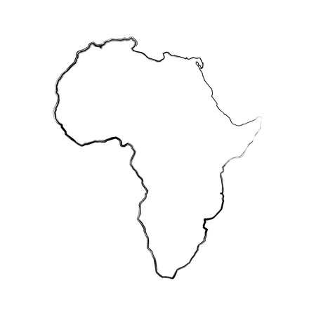 africa map isolated icon vector illustration design