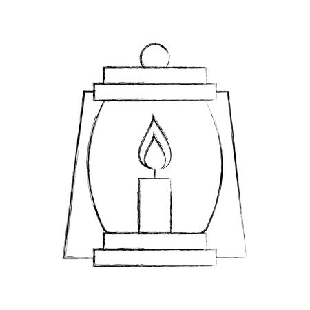Linterna de camping aislado icono de ilustración vectorial de diseño Foto de archivo - 84599495