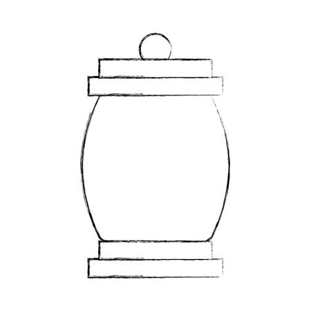 Acampar linterna aisladas icono de ilustración vectorial de diseño Foto de archivo - 84599499