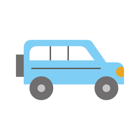 safari van isolated icon vector illustration design 向量圖像