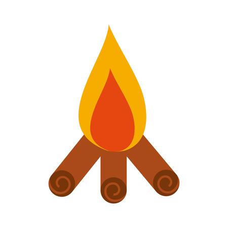 Feu de camp isolé icône illustration d'illustration vectorielle Banque d'images - 84599614