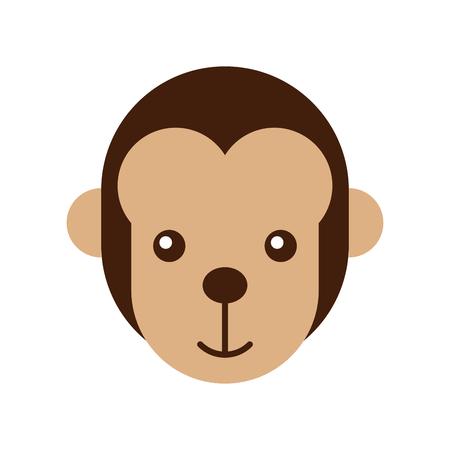 cute monkey wild icon vector illustration design