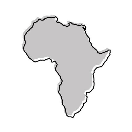 アフリカ地図アイコン ベクトル イラスト デザインを分離しました。