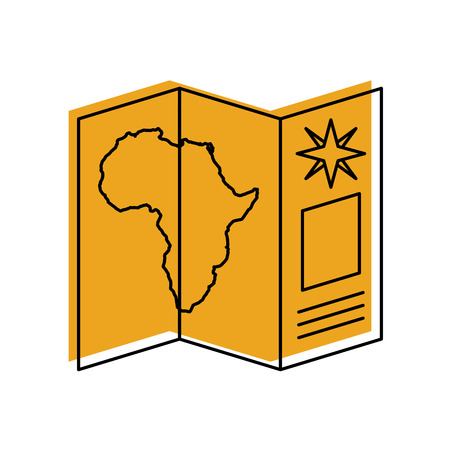 Safari brochure in Africa vector illustration design