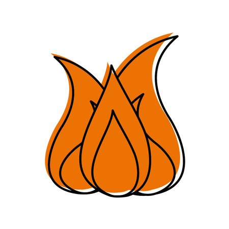 キャンプの火の分離のアイコン ベクトル イラスト デザイン 写真素材 - 84600026