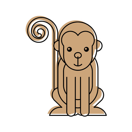 cute monkey wild icon vector illustration design
