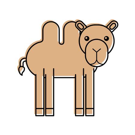 Afrikaanse kameel geïsoleerd pictogram vector illustratie ontwerp