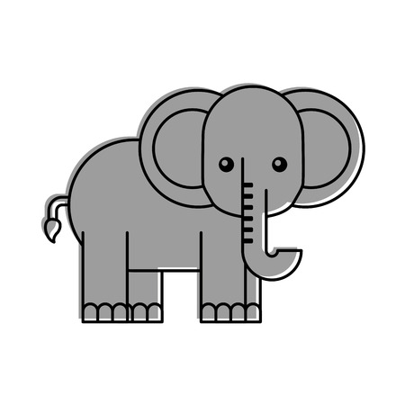 african elephant isolated icon vector illustration design