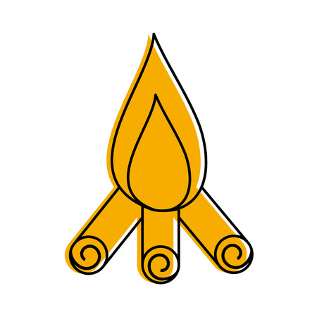 touristic: camp fire isolated icon vector illustration design Illustration