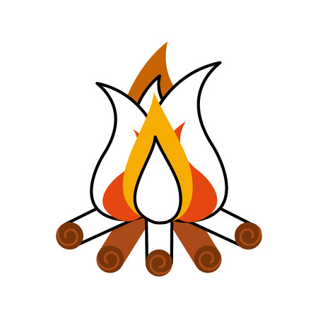 camp fire isolated icon vector illustration design Ilustração
