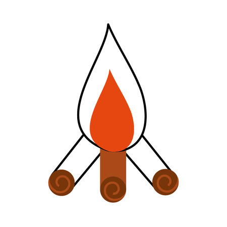 Feu de camp isolé icône illustration d'illustration vectorielle Banque d'images - 84600078