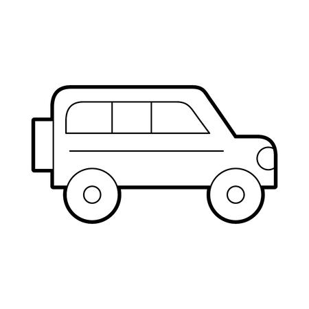 safari van isolated icon vector illustration design Illustration
