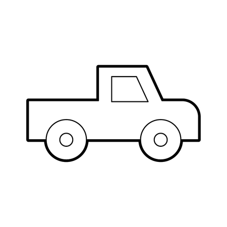 safari Van of Plato isolated icon vector illustration design