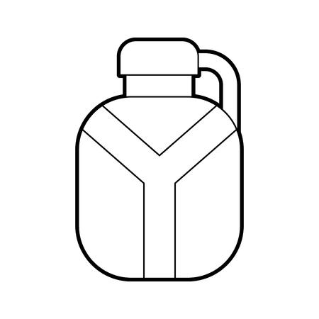 safari canteen isolated icon vector illustration design