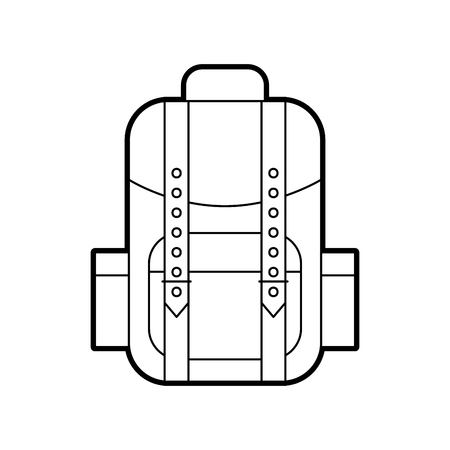 camping bag isolated icon vector illustration design Stock fotó - 84600155