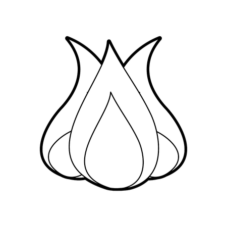 Feu de camp isolé icône illustration d'illustration vectorielle Banque d'images - 84600159