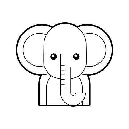 Afrikanischer Elefant isoliert Symbol Vektor-Illustration , Design , Standard-Bild - 84600179