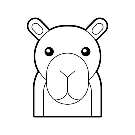 Africano camello aislado icono ilustración vectorial Foto de archivo - 84600181