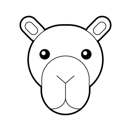 Africano camello aislado icono ilustración vectorial Foto de archivo - 84600410