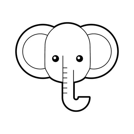 アフリカ象分離アイコン ベクトル イラスト デザイン