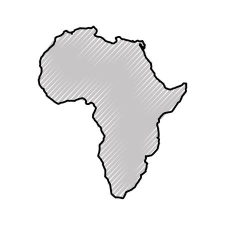 África mapa aislado icono vector ilustración diseño