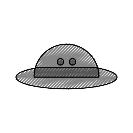 hat safari isolated icon vector illustration design