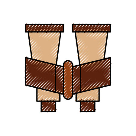 binoculars device isolated icon vector illustration design Çizim