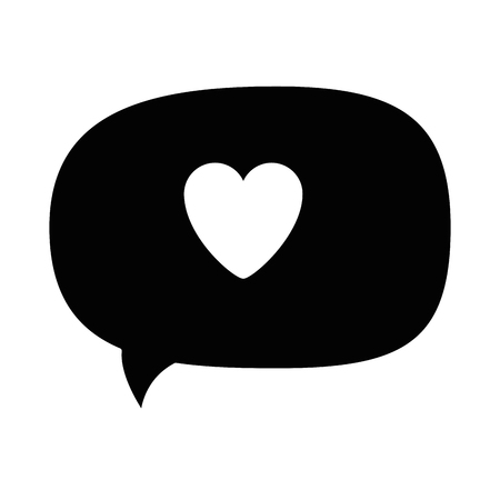 speech bubble with hearts icon over white background vector illustration Illustration