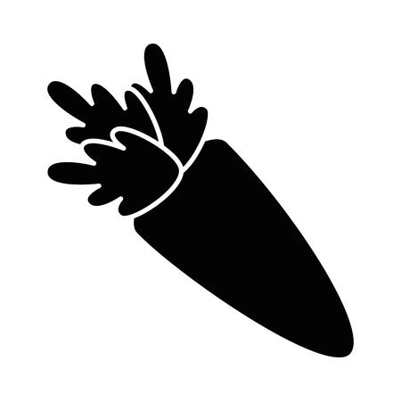 Wortel Groente pictogram op witte achtergrond vector illustratie Stock Illustratie