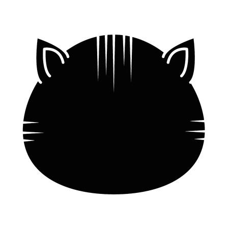 흰색 배경 벡터 일러스트 레이 션을 통해 고양이 아이콘 일러스트