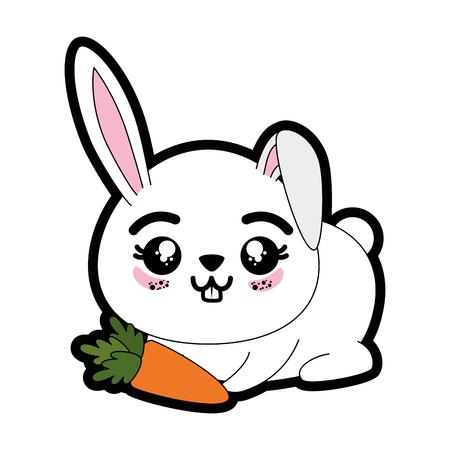 Rabbit animal icon over white background colorful design vector illustration