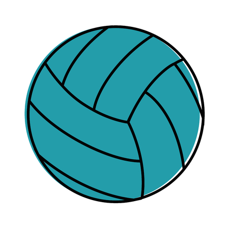 volleyball ball icon over white background vector illustration Ilustração