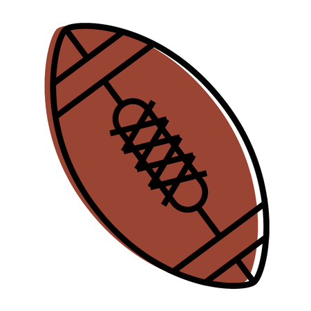 american football ball icon over white background vector illustration Stock Vector - 84665621