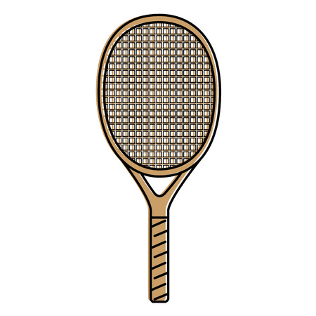 tennis racket icon over white background vector illustration Illustration