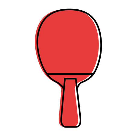 ping pong racket icon over white background vector illustration