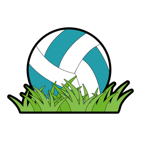 Volleyball ball icon over white background vector illustration