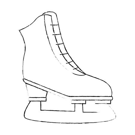 Ice skates icon over white background vector illustration