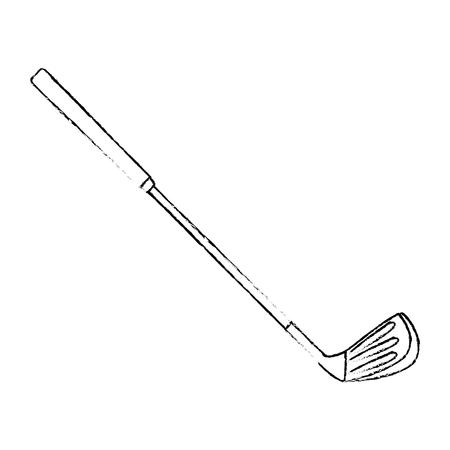 golf stick icon over white background vector illustration