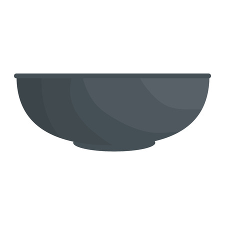 bowl icon over white background vector illustration Ilustração