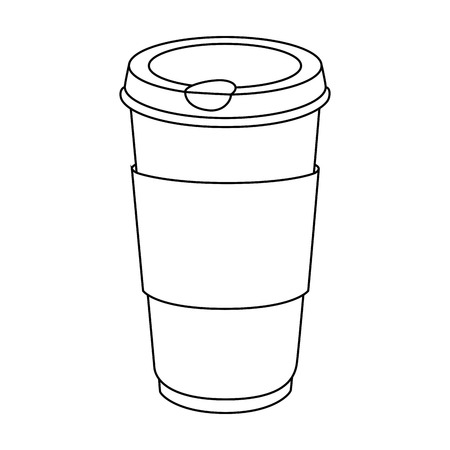 coffee cup icon over white background vector illustration 向量圖像