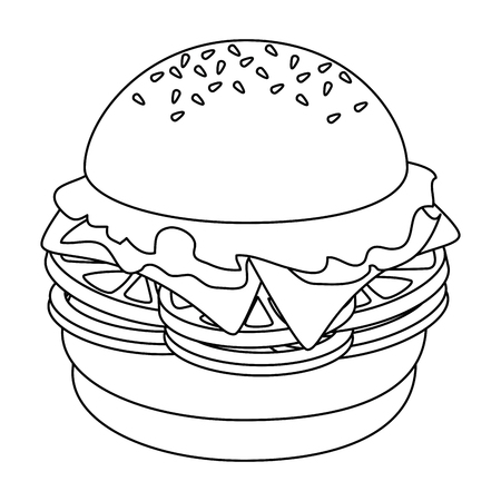 hamburger icon over white background vector illustration Ilustração