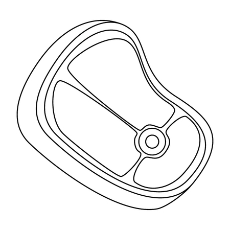 meat steak icon over white background vector illustration