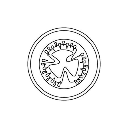tomato slices icon over white background vector illustration 向量圖像