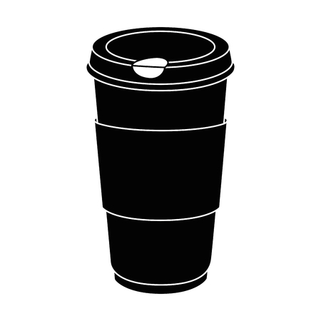 coffee cup icon over white background vector illustration Çizim