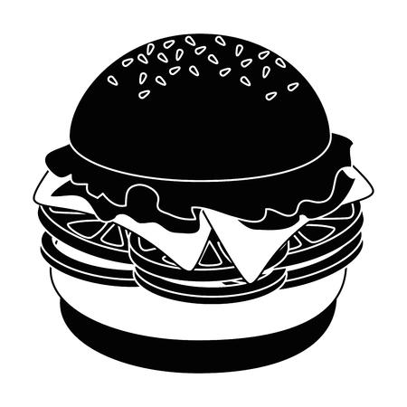 hamburger icon over white background vector illustration Ilustração