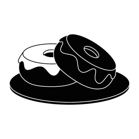 sweet donuts icon over white background vector illustration Illustration
